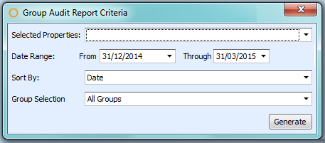 Group Audit Report Criteria