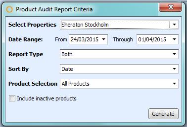 Product Audit Report Criteria