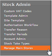 Fig 5 - Manage Main Stores Link