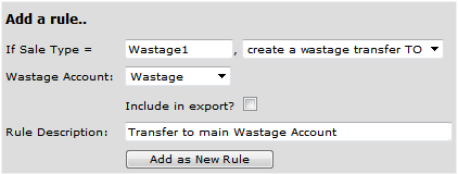 Fig 3 – Wastage Rule