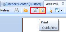 Print custom report