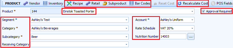 Edit product header becomes accessible