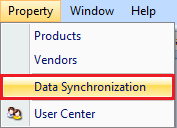 Data Synchronization drop down