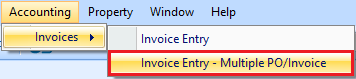Invoice Entry - Multiple PO/Invoice drop down