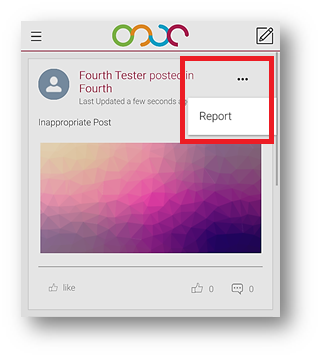 Fig.1 – Report option for Posts