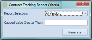 Contract Tracking Report Criteria